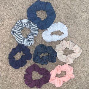 8 Scrunchies various colors!